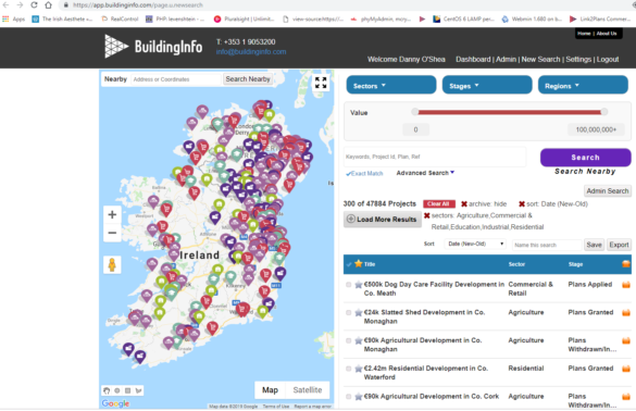 Building Information Ireland Home Page